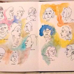 Retratos de todas por Montsino