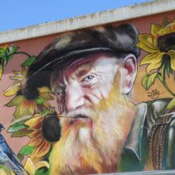 Mural en Penelles. Foto de Gus Bertolo