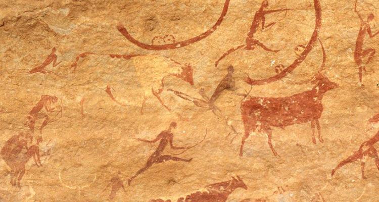 Pintura rupestre en Tassili n'Ajjer