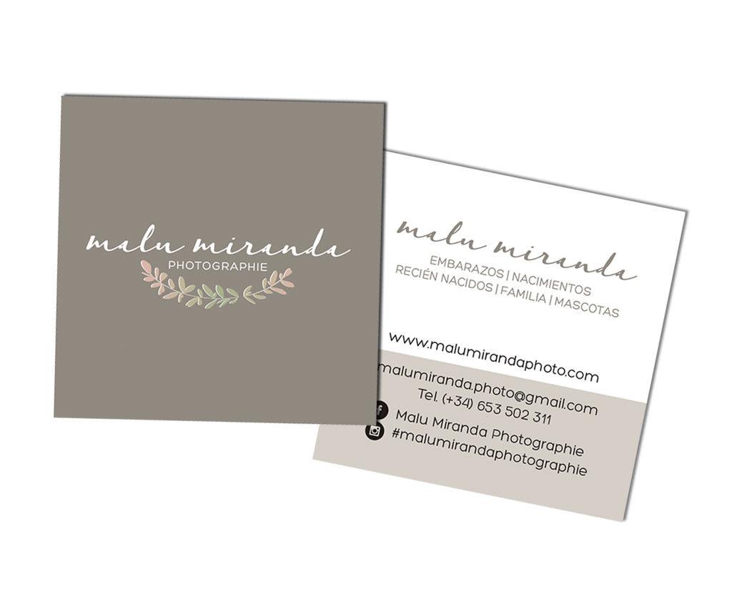 Logo y tarjetas fotógrafa
