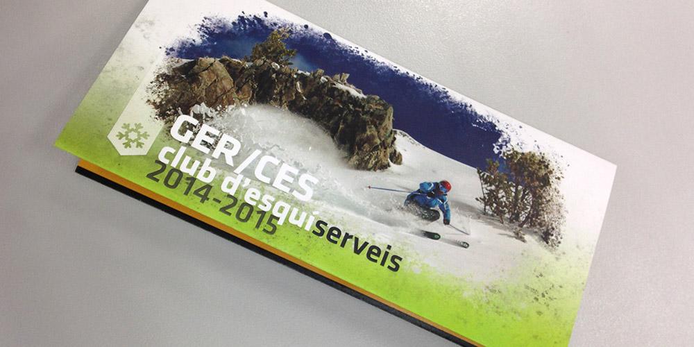 Folleto servicios de esquí